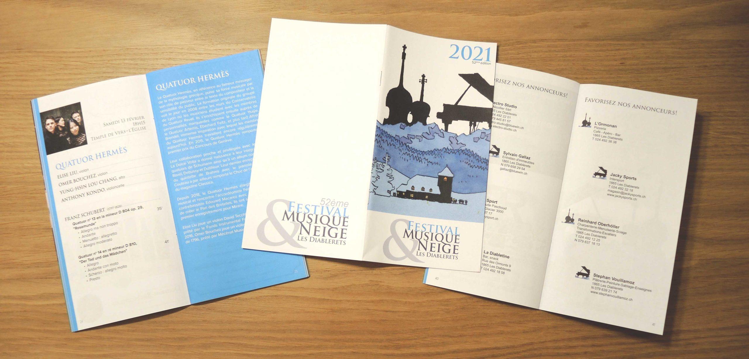 Brochure Festival Musique et Neige des Diablerets